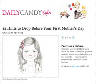 Custom pencil portraits up on Daily Candy Kids today!