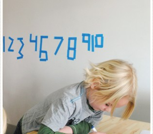 Counting with painter's tape