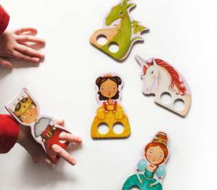 Tuesday Mourning Princess finger puppets