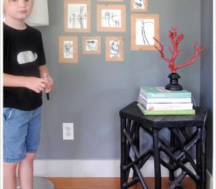 DIY Dry Erase Framed Gallery For Kids