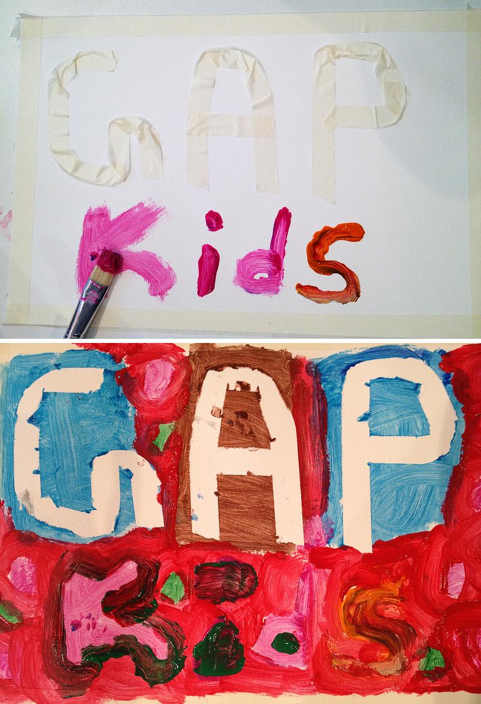 GapKidsLogoLetteringByKids