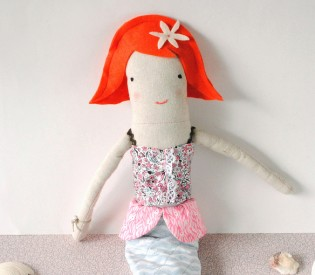 Complete Milly the Mermaid doll pattern