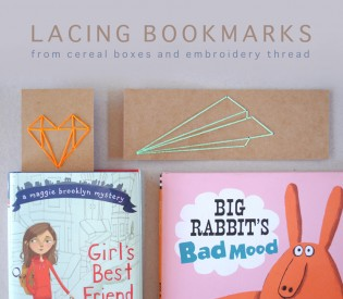 Back-to-School Lacing Bookmarks
