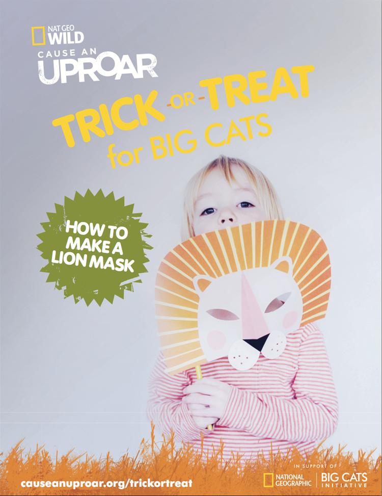 DIY Paper Lion Mask for National Geo Kids - Mer Mag