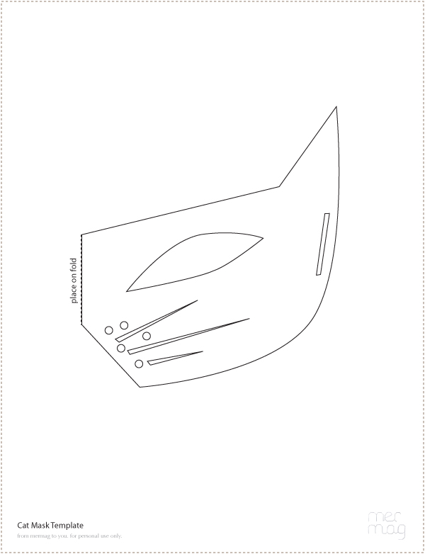 Halloween flashback mer mag for Caterpillar mask template
