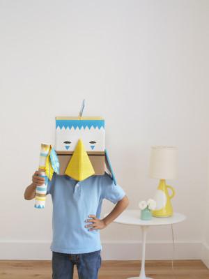 Duct Tape Box Mask and Rain Stick