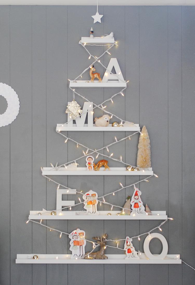 Mer mag our diy ikea ribba mer mag - Diy christmas tree on wall ...