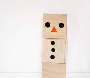 Modern Snowman Blocks