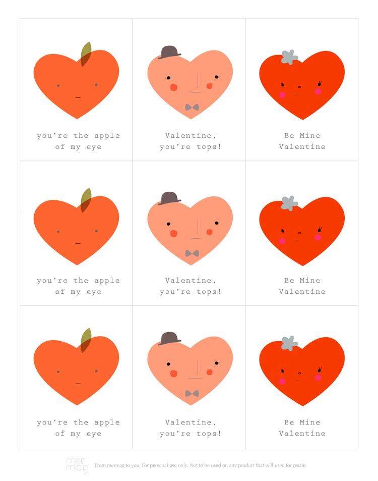 Mer Mag – Happy Valentines Day Printable Cards