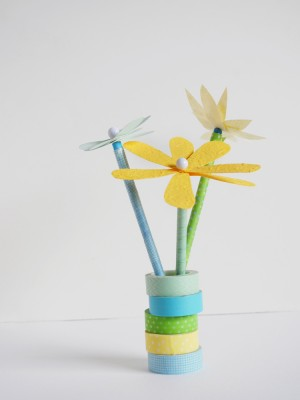Easy Flower Pencil Toppers