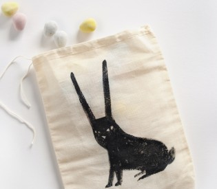 Bitty Black Bunny Treat Bag