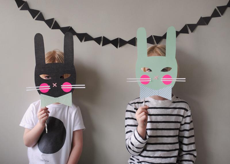 Mer Mag Bunny Masks