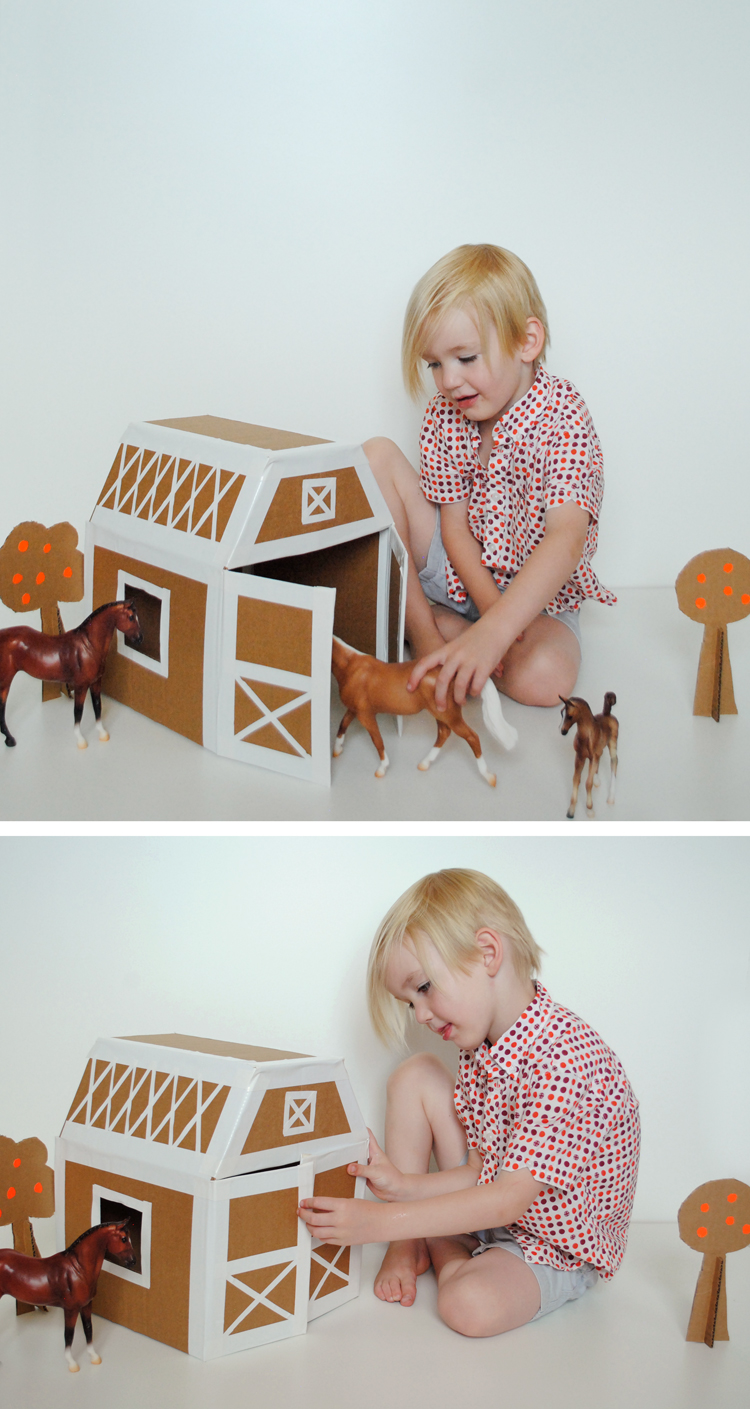Diy Play Horse Stable Mer Mag