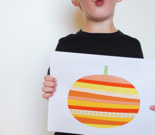 Paper Strip Pumpkin Art