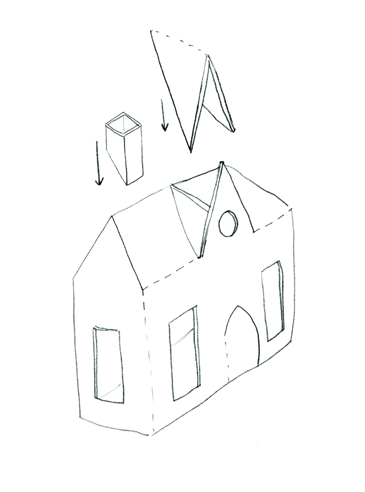 Mer Mag | Haunted House DIY Drawing