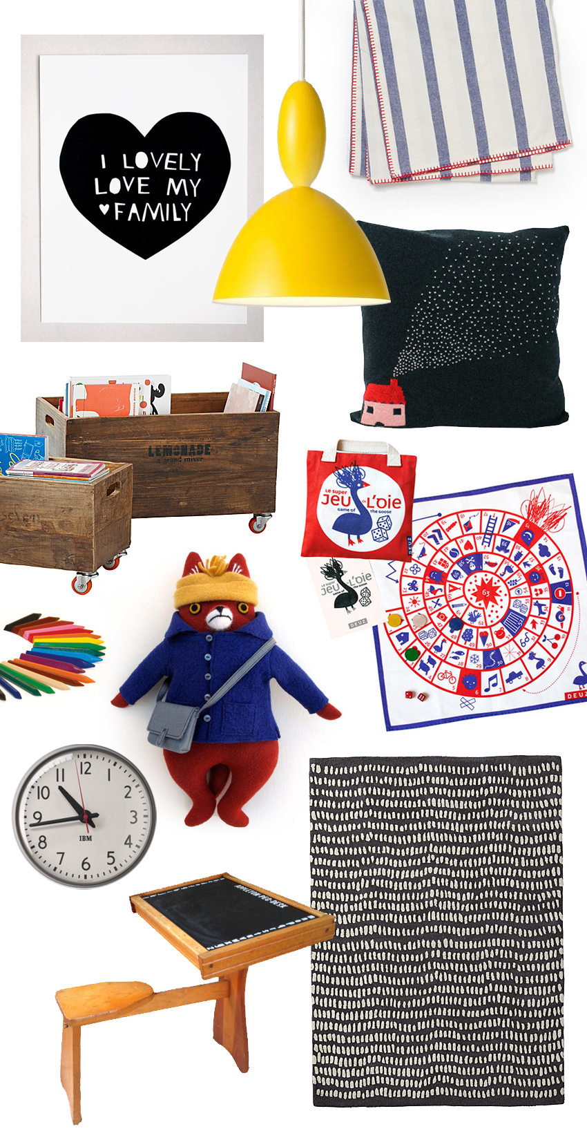 Mer Mag Dream Play Room Mood Board