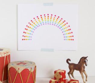 eraser stamp rainbow art | mer mag