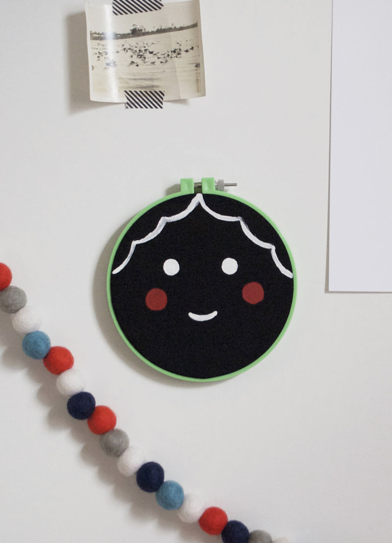 Face Wall Hanging by Mer Mag