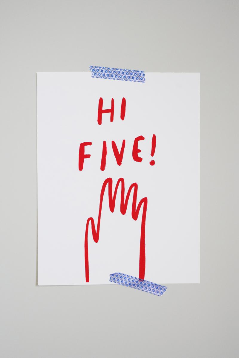 Hi Five Print by Mer Mag