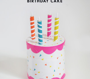 DIY Play Birthday Cake with and oatmeal box and duct tape