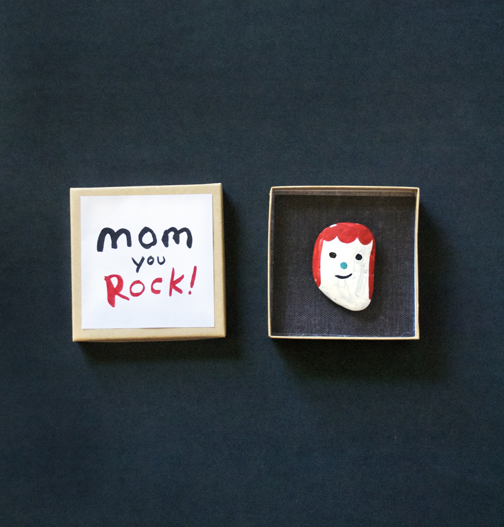 Make a rock portrait for mom mer mag for What to get mom for mother s day diy
