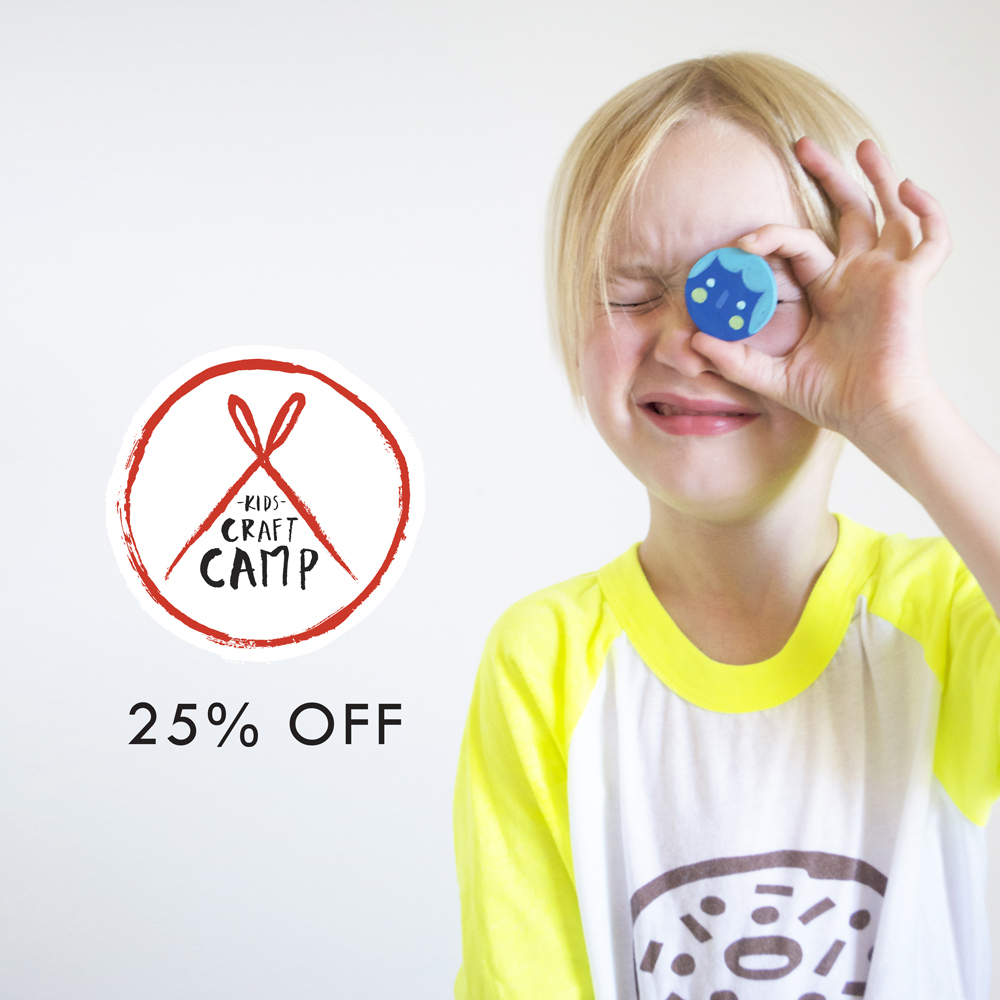 25 off Kids Craft Camp