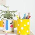 Make Your Own Duct Tape Pencil Holders  – And Back to School Homework Station
