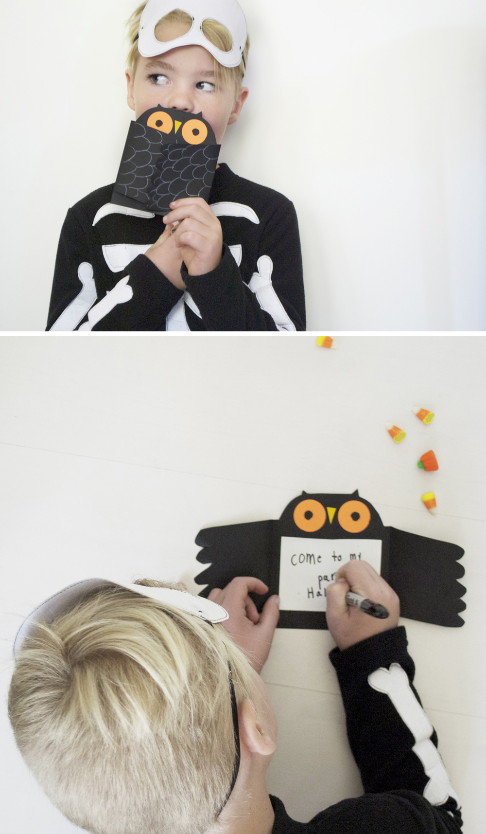Halloween Party Owl Invite | Mer Mag + Astrobright Paper