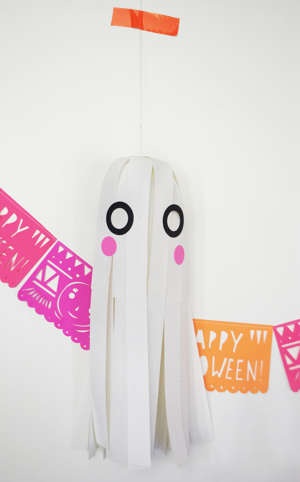 Paper Strip Hanging Ghost| Mer Mag + Astrobright Paper