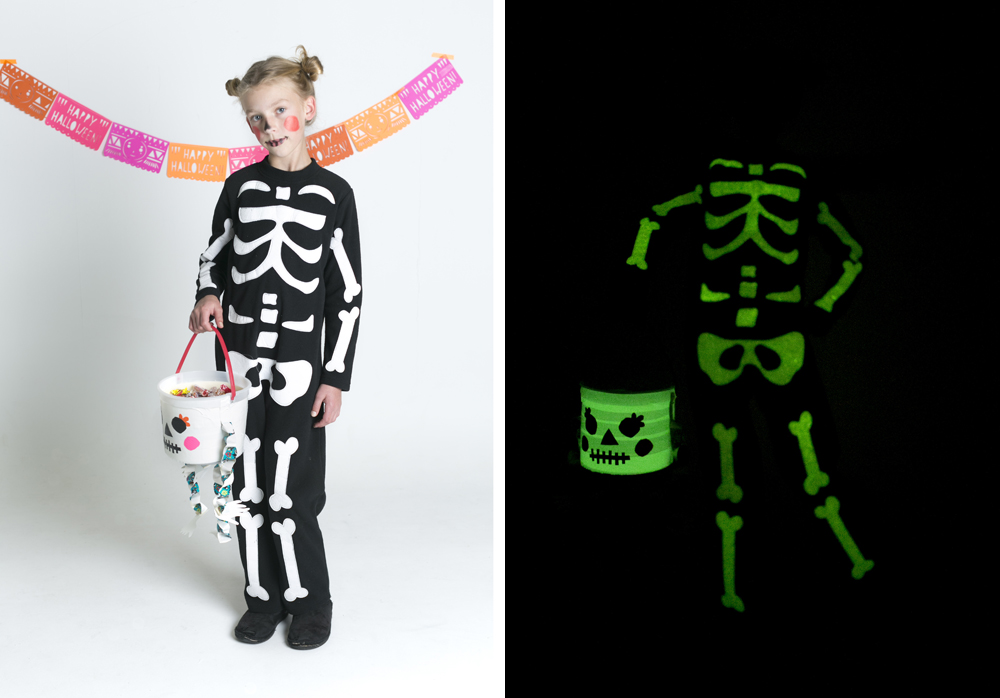 MerMagScotchDuctTapeTreatBucket9 & DIY Glow-in-the-Dark Skeleton Treat Bucket! - Mer Mag