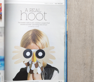 Our Little Owl Hat/Puppet in Good Housekeeping