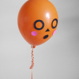 silly Halloween balloon faces DIY on Julep | mer mag
