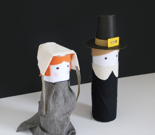 Turn a Pair of Pringle Cans into Pilgrims this Thanksgiving!