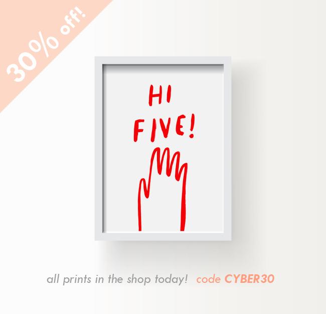 cypber monday print sale