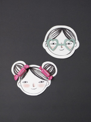 Printable Valentine Faces to Decorate!