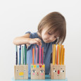 Pencil Holder Heads from Mer Mag's book PLAYFUL