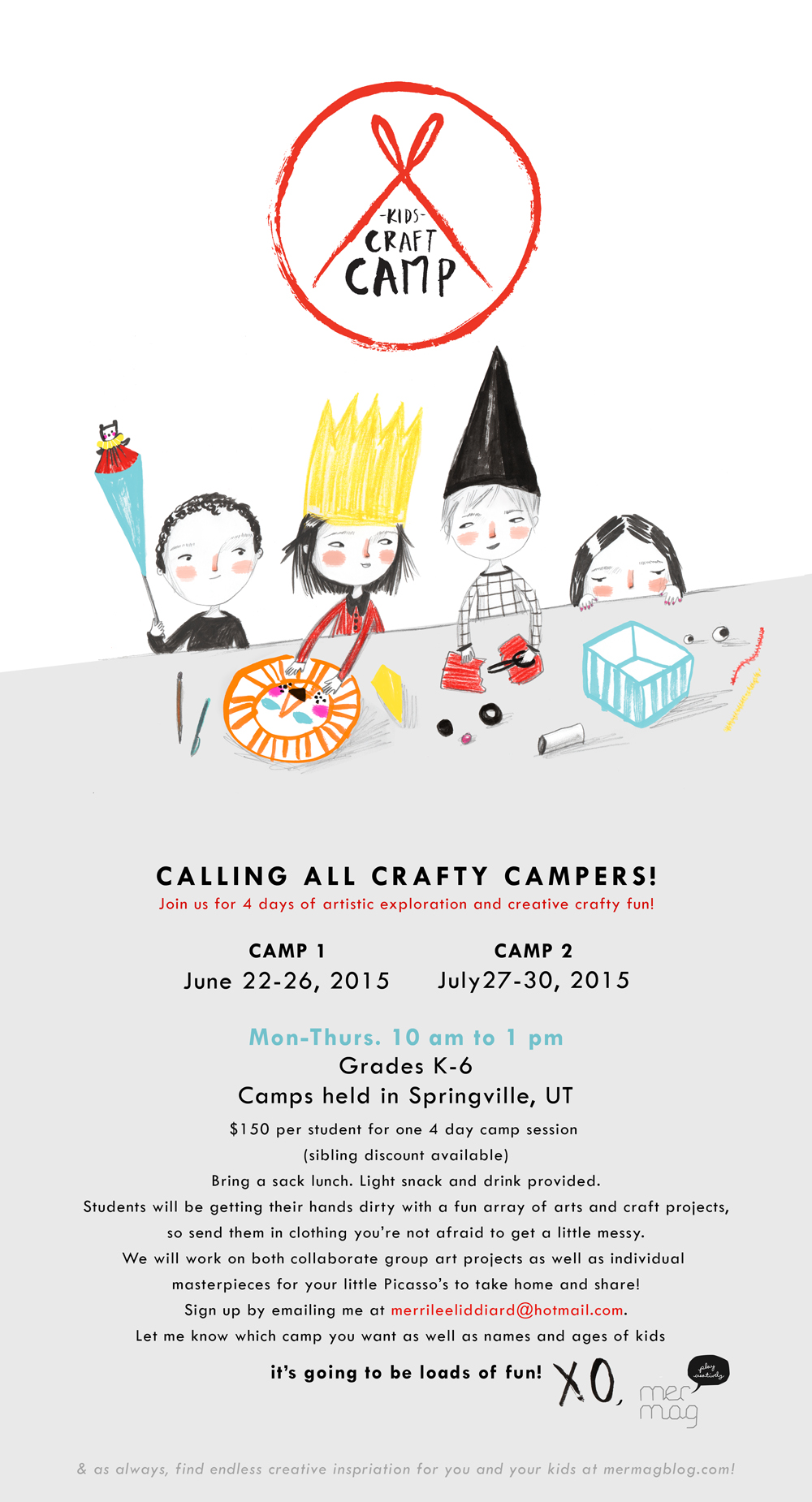 Mer Mag's Kids Craft Camp Info