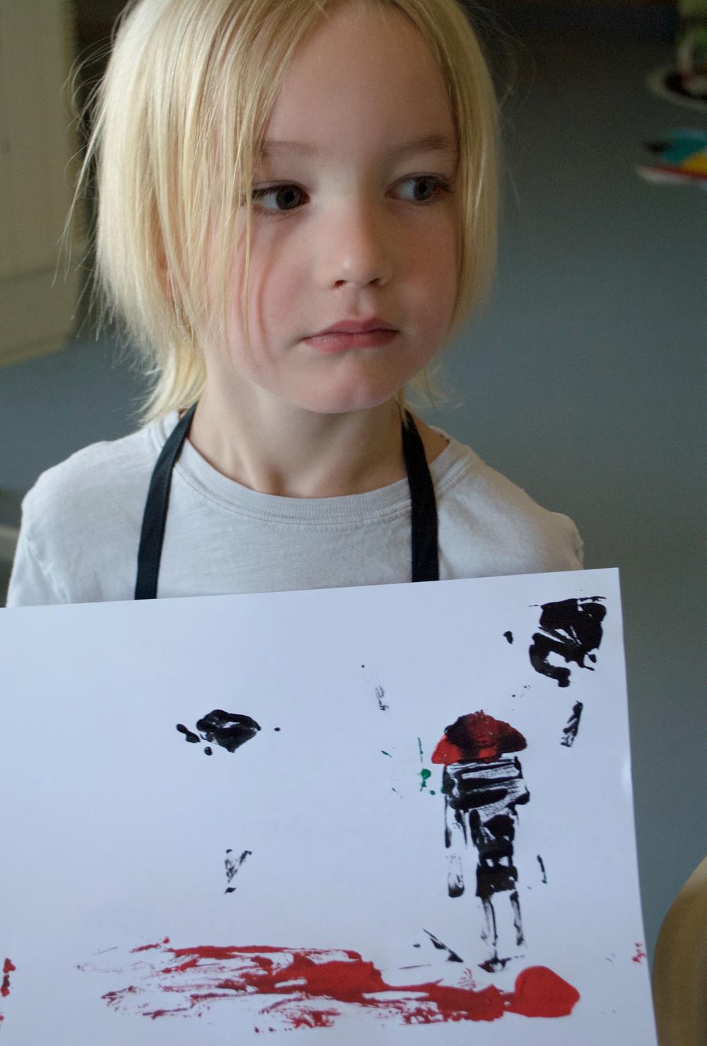 beginning print making with kids