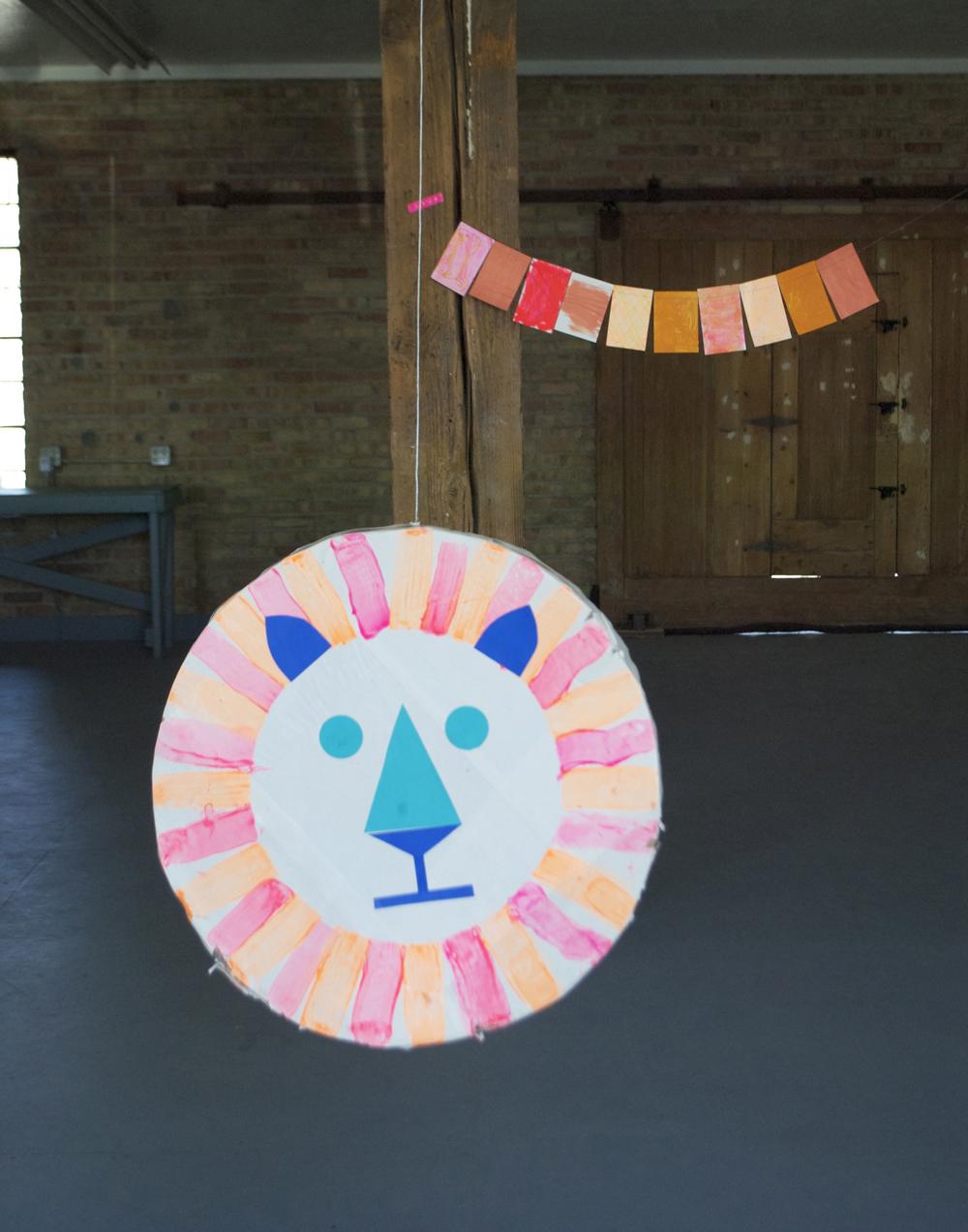 Lion Piñata | Mer Mag's Kids Craft Camp