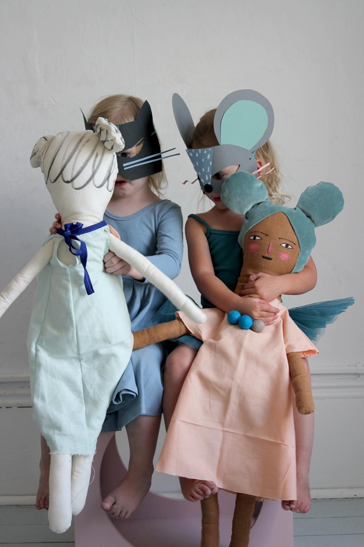 Cat & Mouse paper masks | Mer Mag