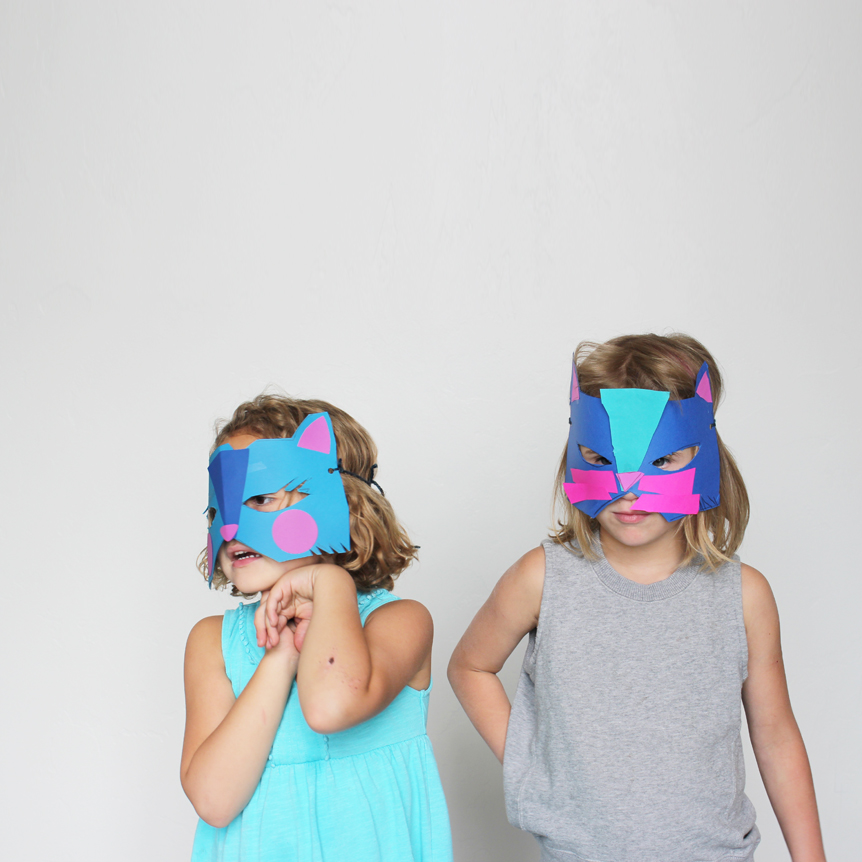 Kiddie Made Cat Mask | Mer Mag Kids Craft Camp