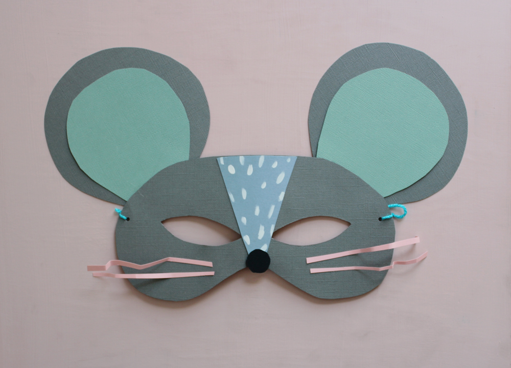 Diy paper cat and mouse masks mer mag for Printable mouse mask template