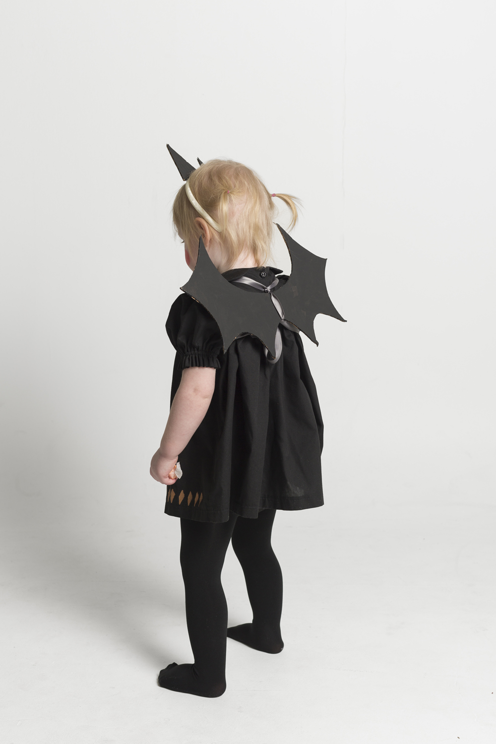 ... Baby Bat Costume with Cardboard Wings and Ears ... & Baby Bat Costume with Cardboard Wings and Ears - Mer Mag