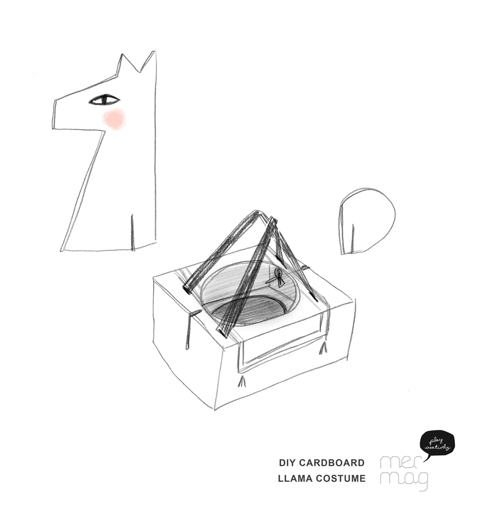 DIY Cardboard Llama Costume | Mer Mag