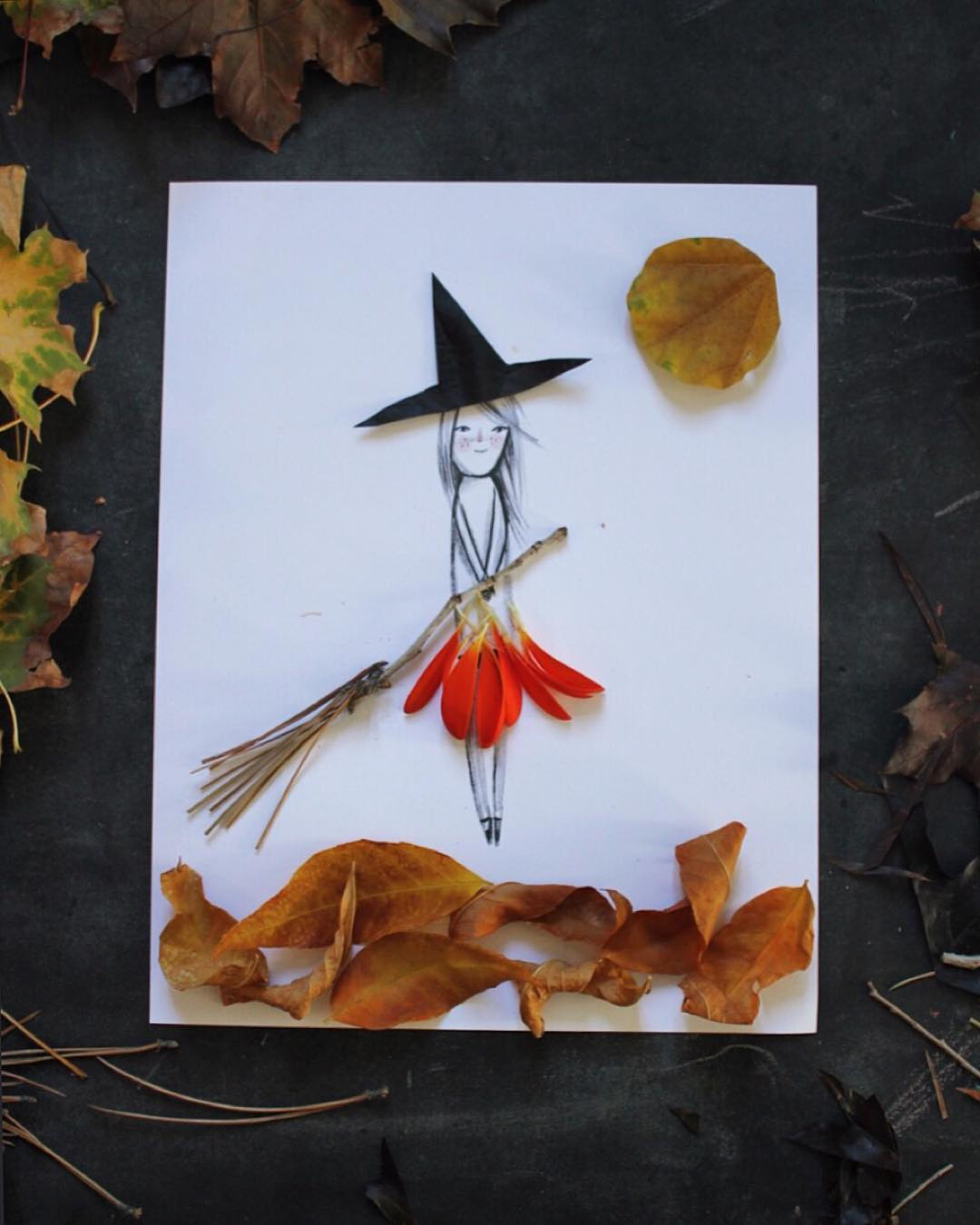 Little Witch Nature Illustration