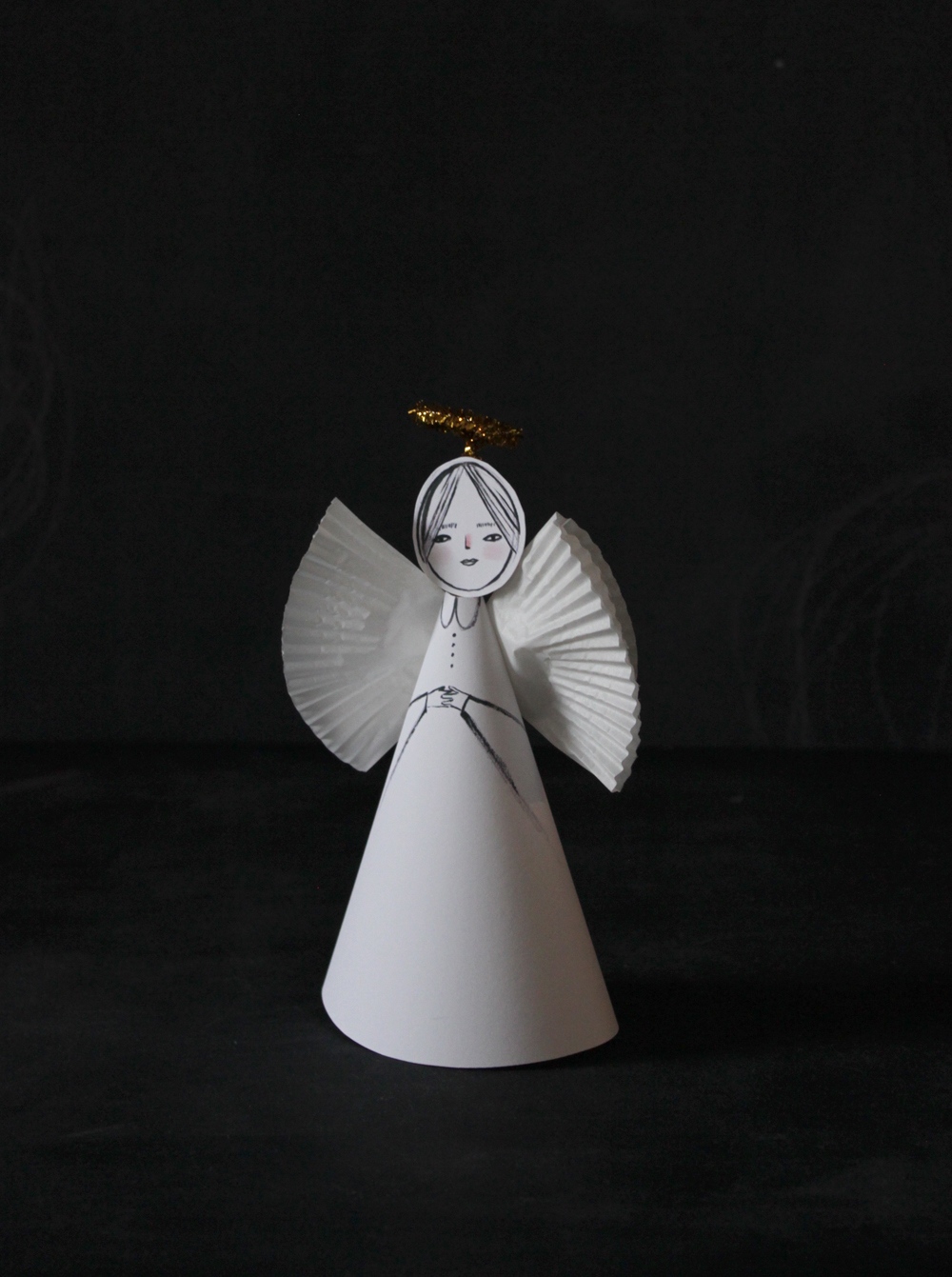 Uncategorized Paper Angel Crafts mer mag easy paper angel craft craft