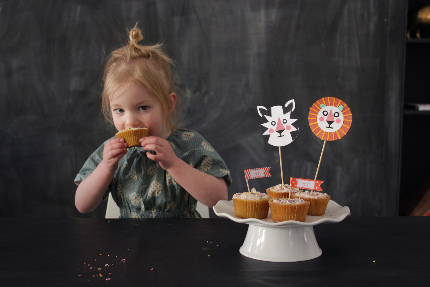 tiger and lion cupcake toppers | mer mag; Foodstirs + Playful giveaway