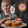 tiger and lion cupcake toppers   mer mag; Foodstirs + Playful giveaway