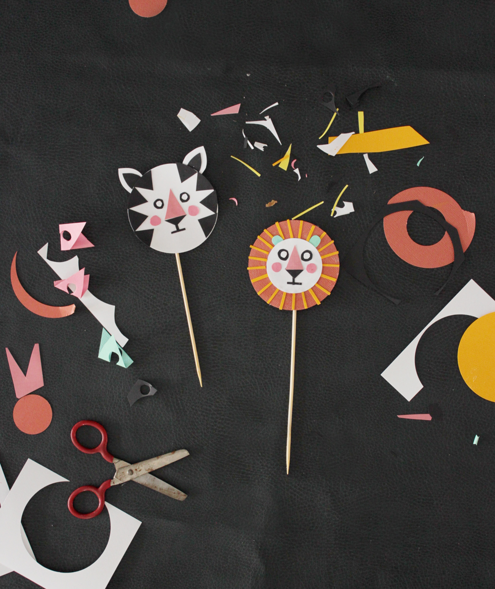 tiger and lion cupcake toppers | mer mag
