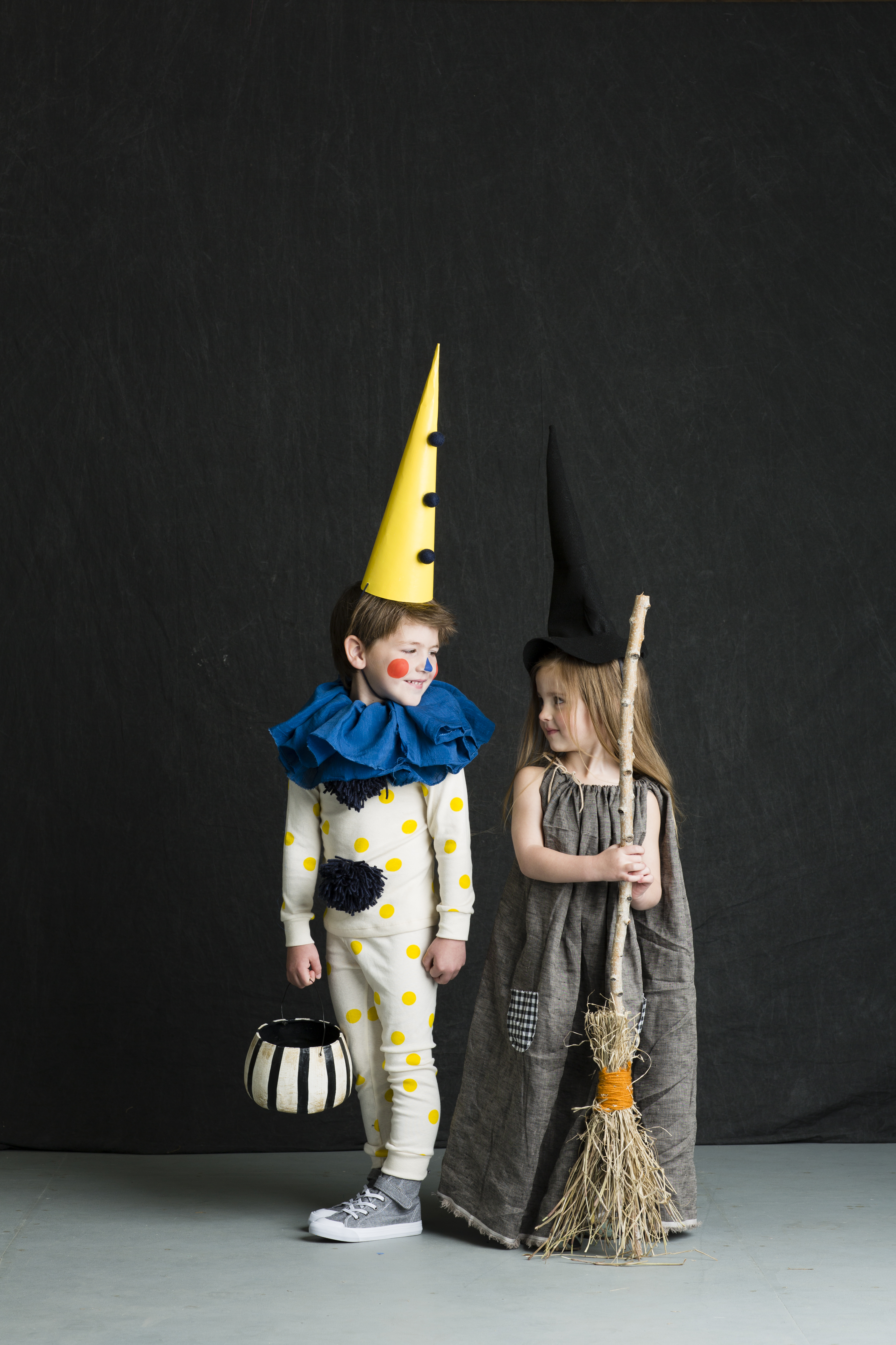 Mer Mag Clown and Witch Costume